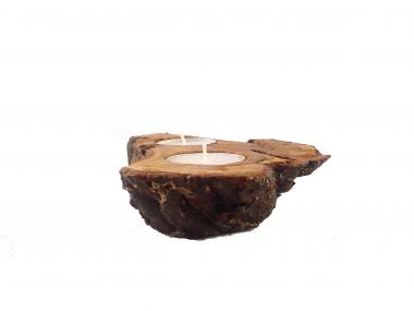 Natural Unique Tea Light Candle Holder From Lentisk Wood, for Home Decor