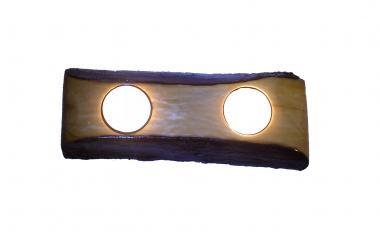 Natural Handmade Wooden Tea Light Candle Holder from Yellow Scrub Oak Branch