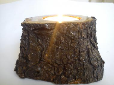 Natural Tea light candlestick from olivebranch