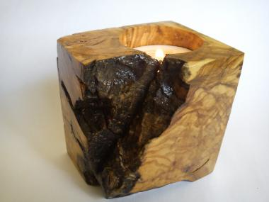Natural Olivewood Candle Holder from Olivewood Root