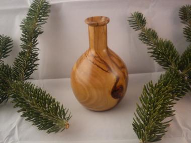 Solid Handmade Olive wood Vase Bottle, Home Decor