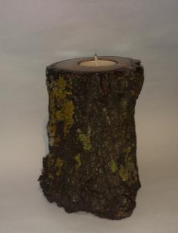 Natural Handmade Wooden Trunk Candle Holder from Oak Wood