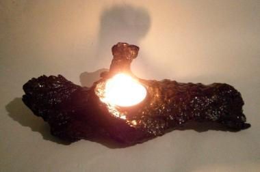 Natural TeaLight Candle Holder ,from Greek Lentisk root