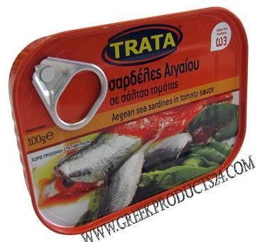 TRATA Sardines in Tomato sauce  100gr