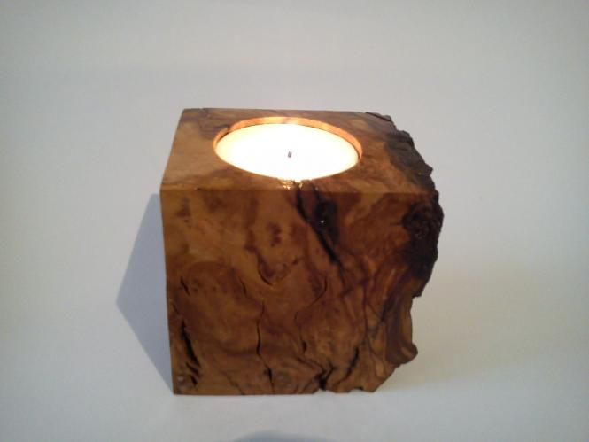 Natural olivewood  Candlestick rock shape