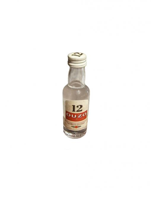 Greek Ouzo 12 , 50ml Mini Bottle
