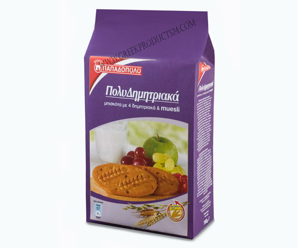 Multicereal Biscuits with 4 Cereals & Muesly  175g.