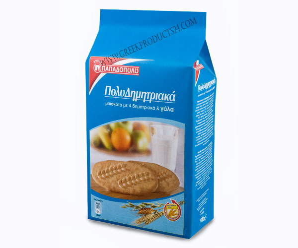 Multicereal Biscuits With 4 Cereals & Milk 160g.